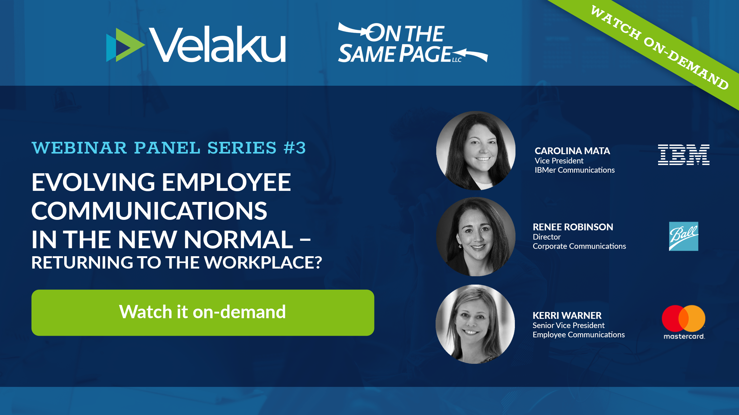 Webinar #3 Evolving Employee Communications in the New Normal - Returning to the Workplace