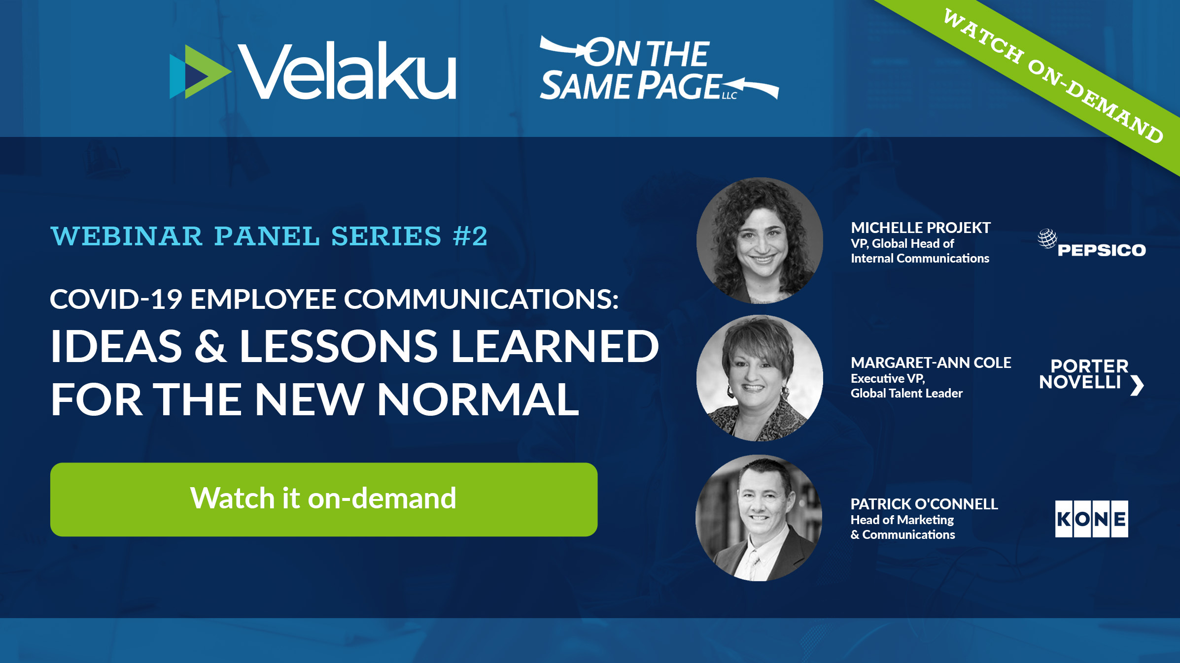 Webinar #2 Ideas and Lessons Learned for the New Normal